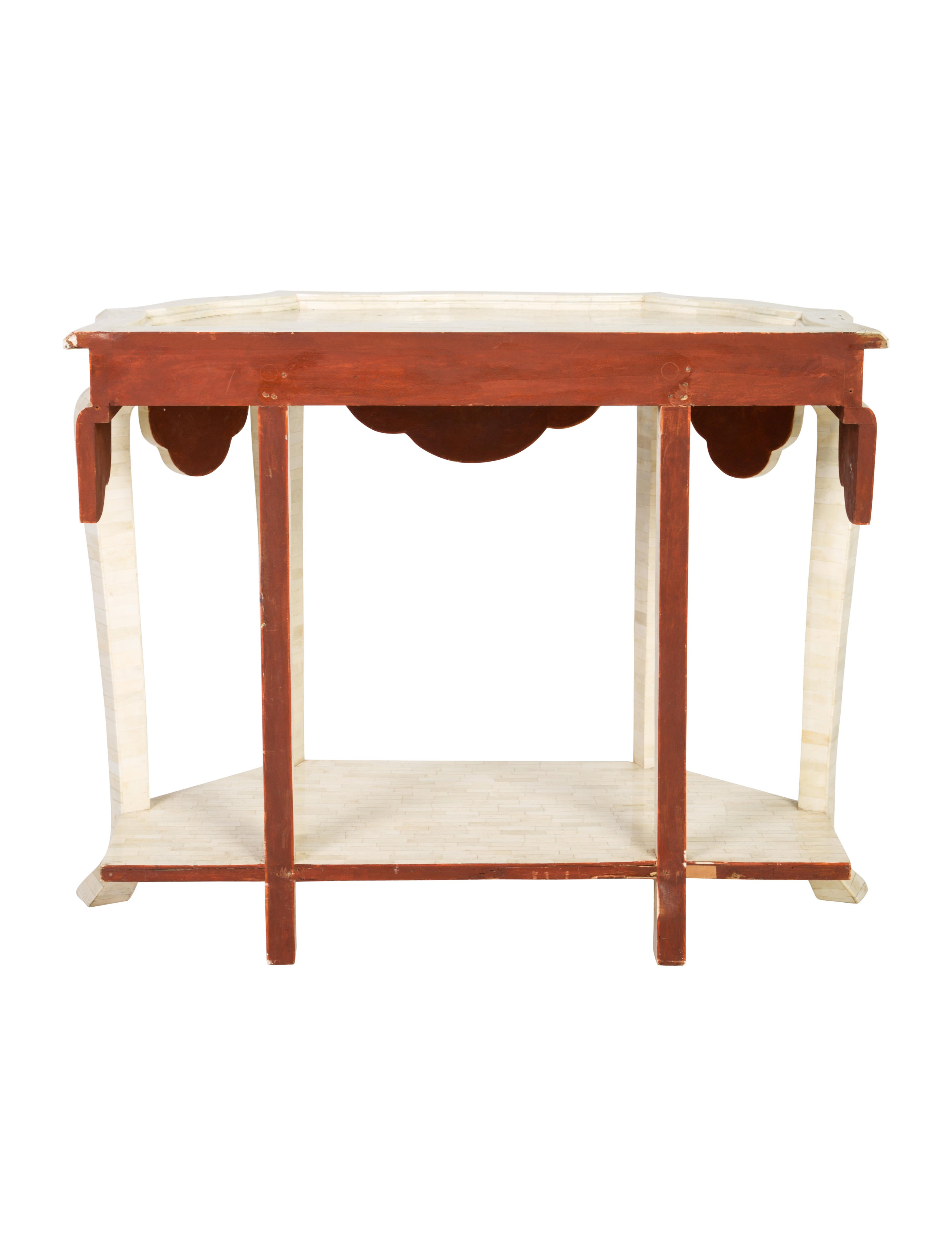 Bone Veenered Console Table Furniture Table20397 The