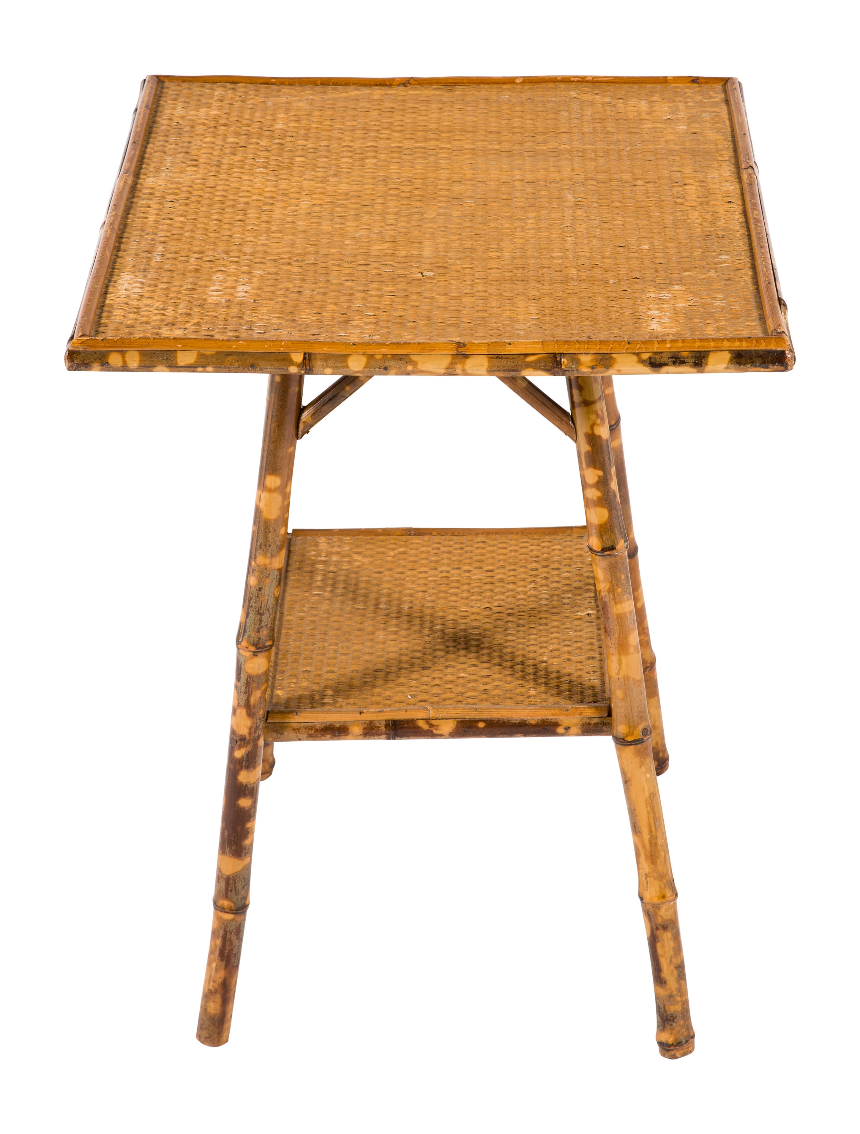 Bamboo cane accent table furniture table20417 the realreal - Essential accent furniture for your home ...