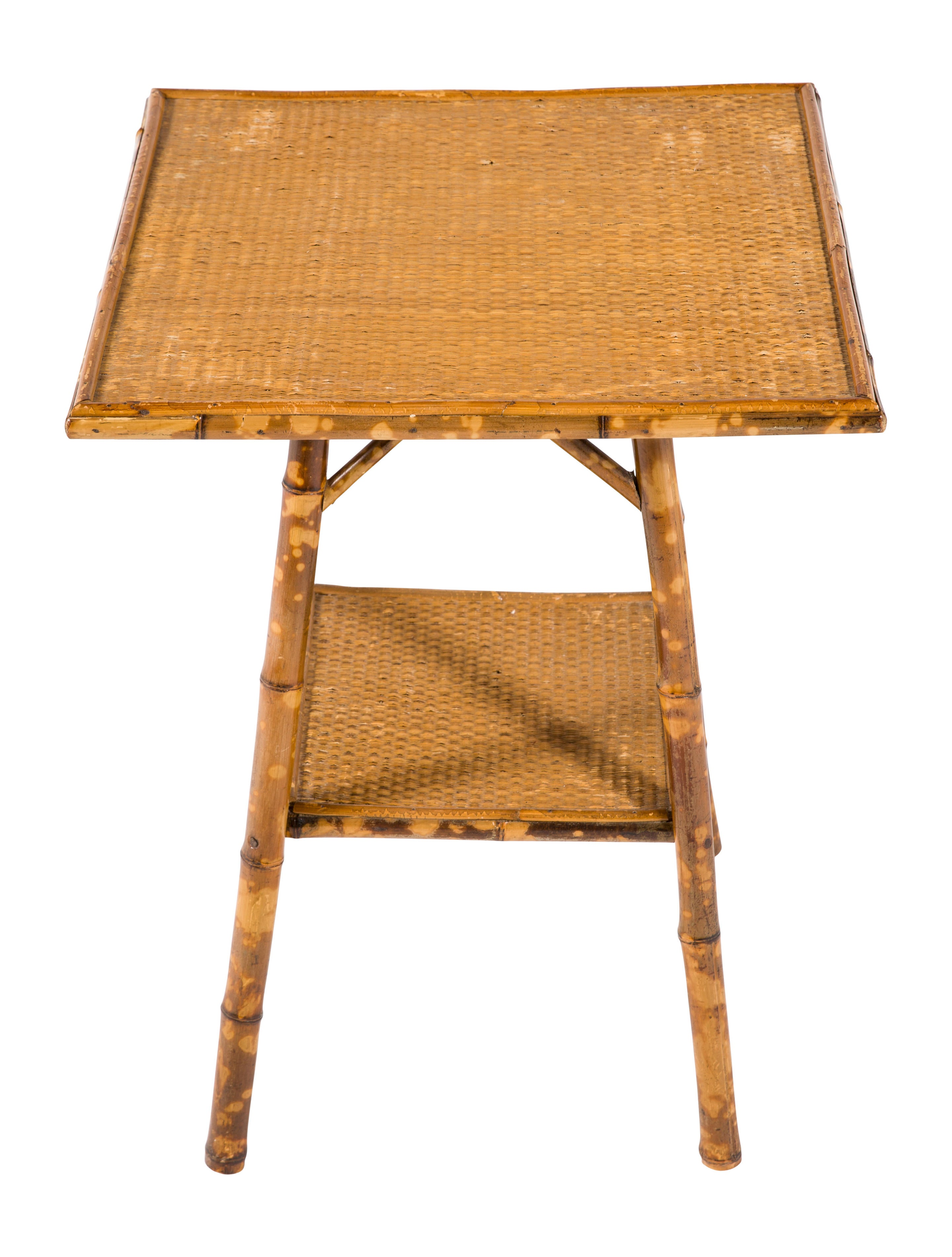 Bamboo Cane Accent Table Furniture Table20417 The