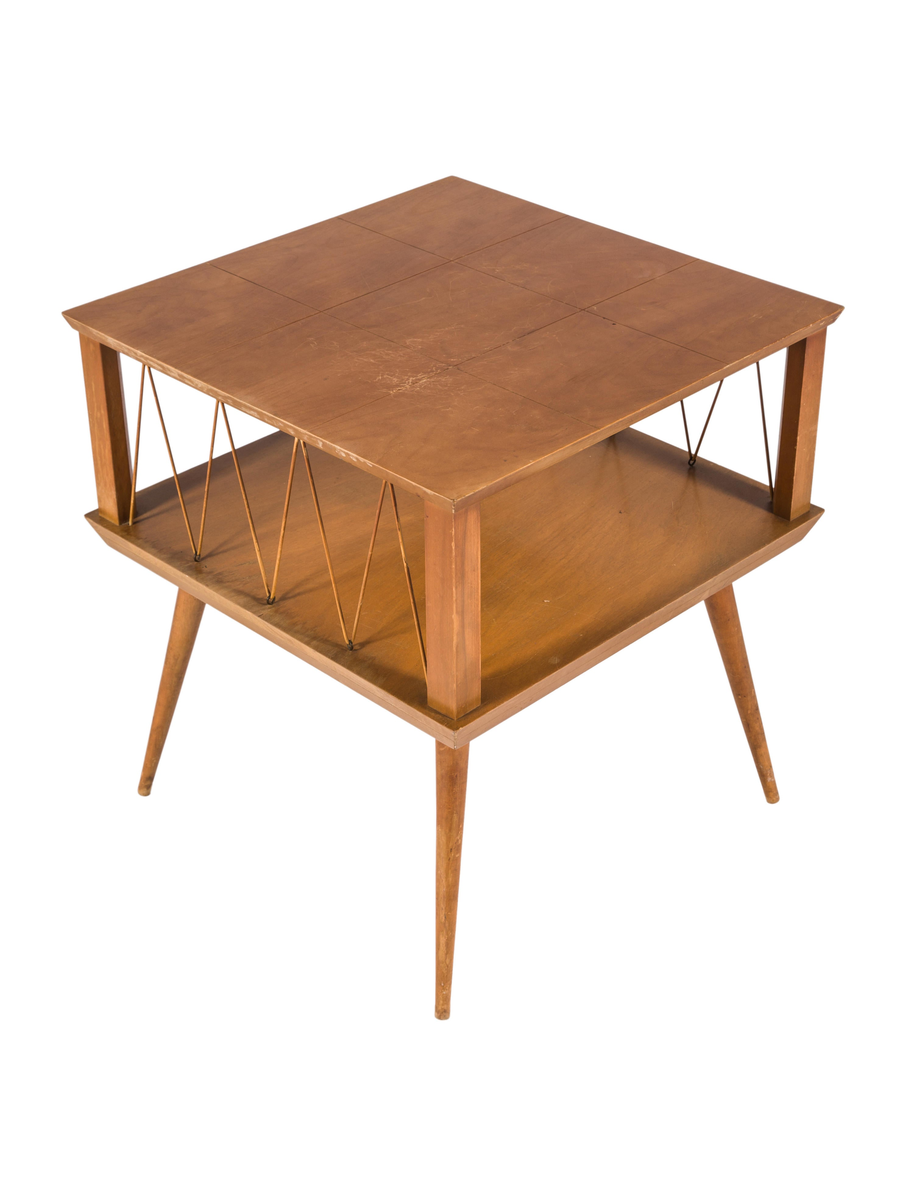 Popular 225 list mid century modern end tables for Table th collapse