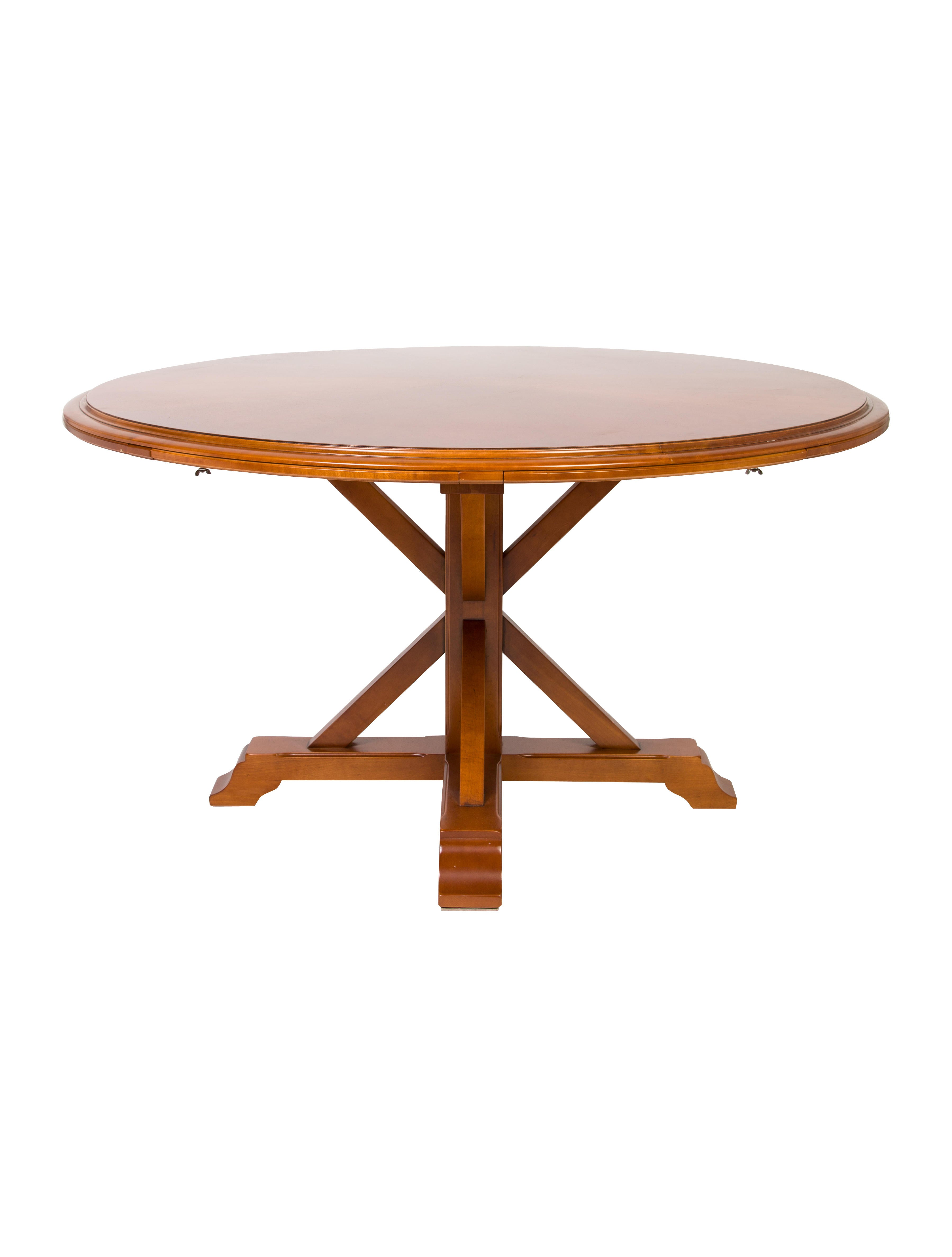 Round Extendable Dining Table Furniture TABLE20463  : TABLE204631enlarged from www.therealreal.com size 3598 x 4747 jpeg 325kB