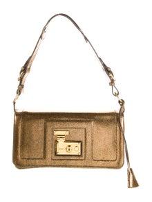 Tanner Krolle Metallic Leather Shoulder Bag