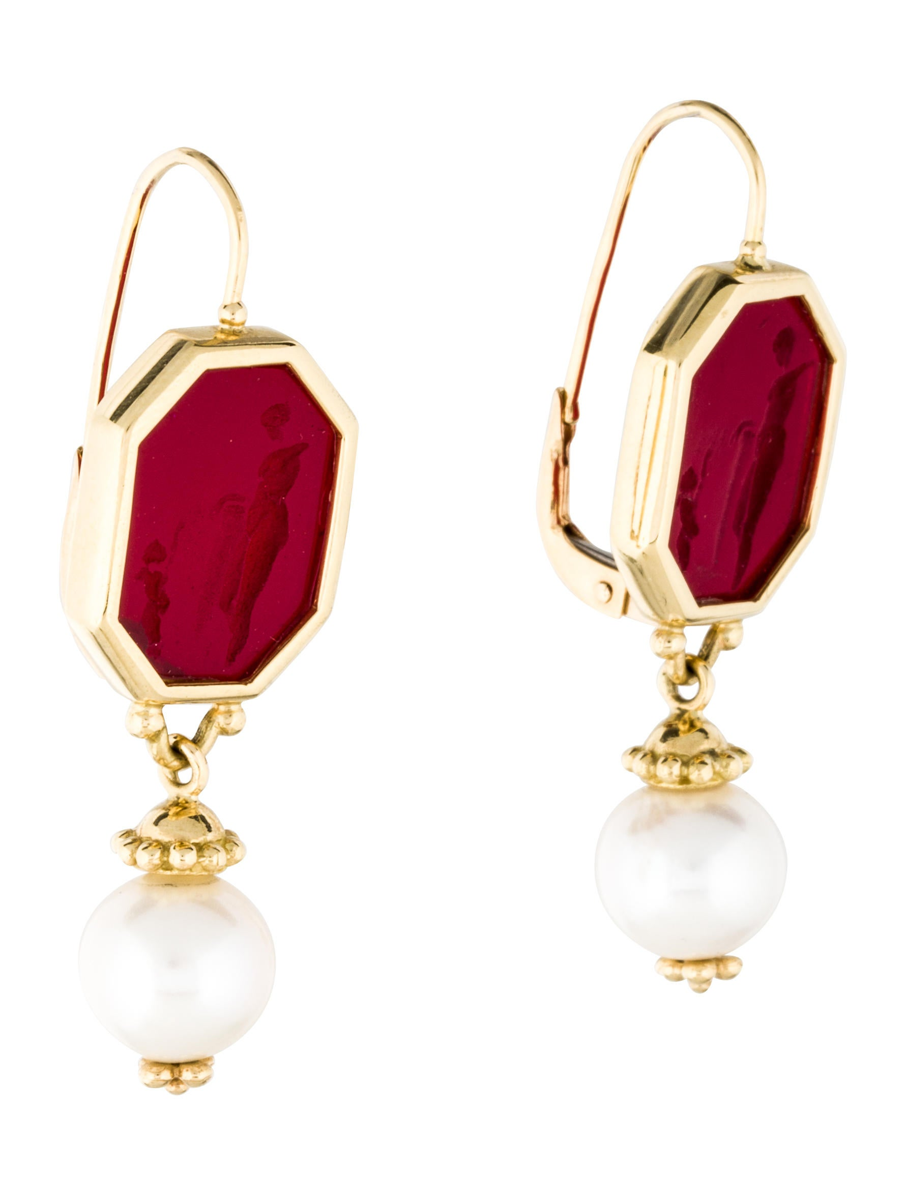 Tagliamonte Intaglio Pearl Drop Earrings Earrings