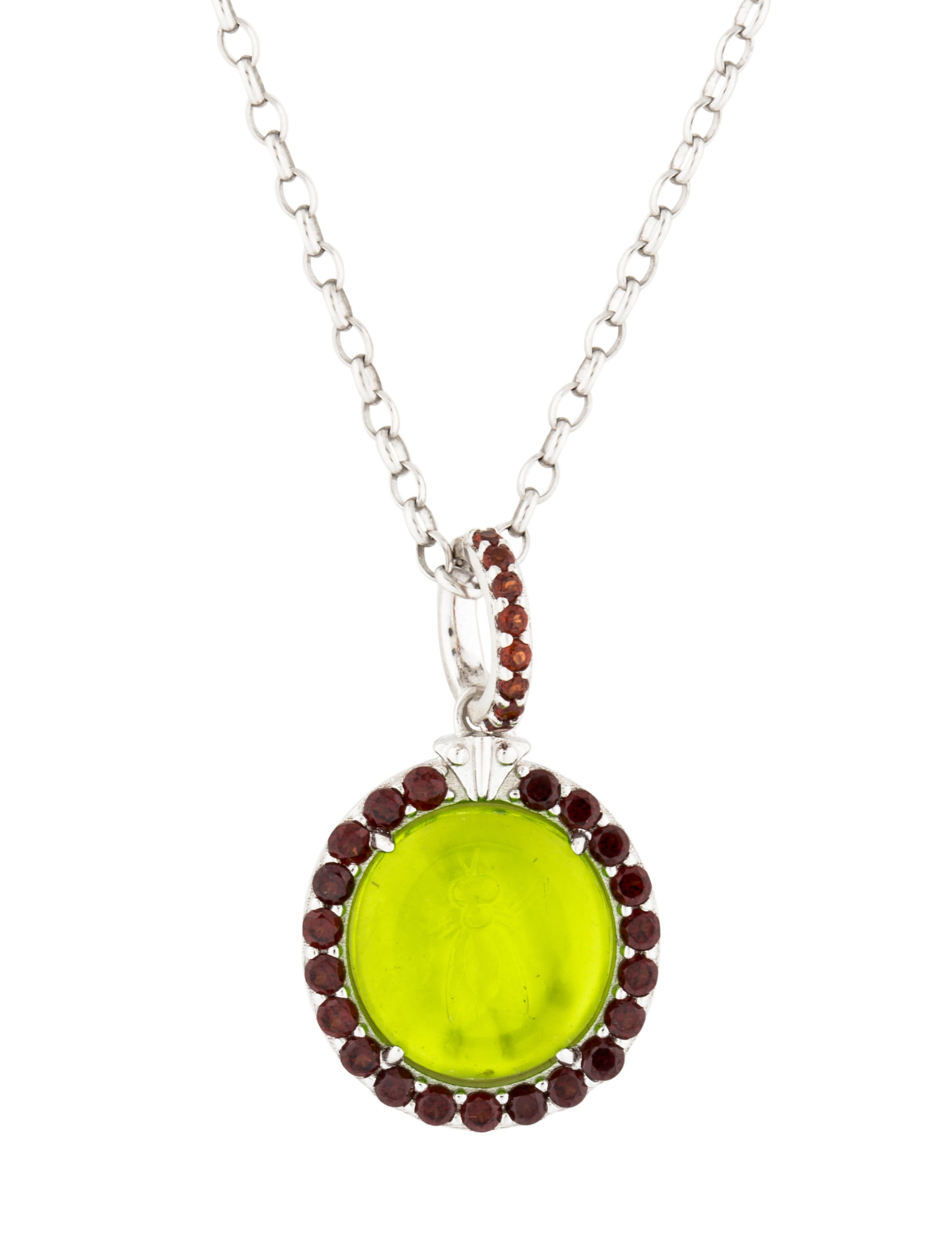 peridot shell green venetian necklace necklaces pendant at jewelry id j choker glass master irvina pearls intaglio rubies cast