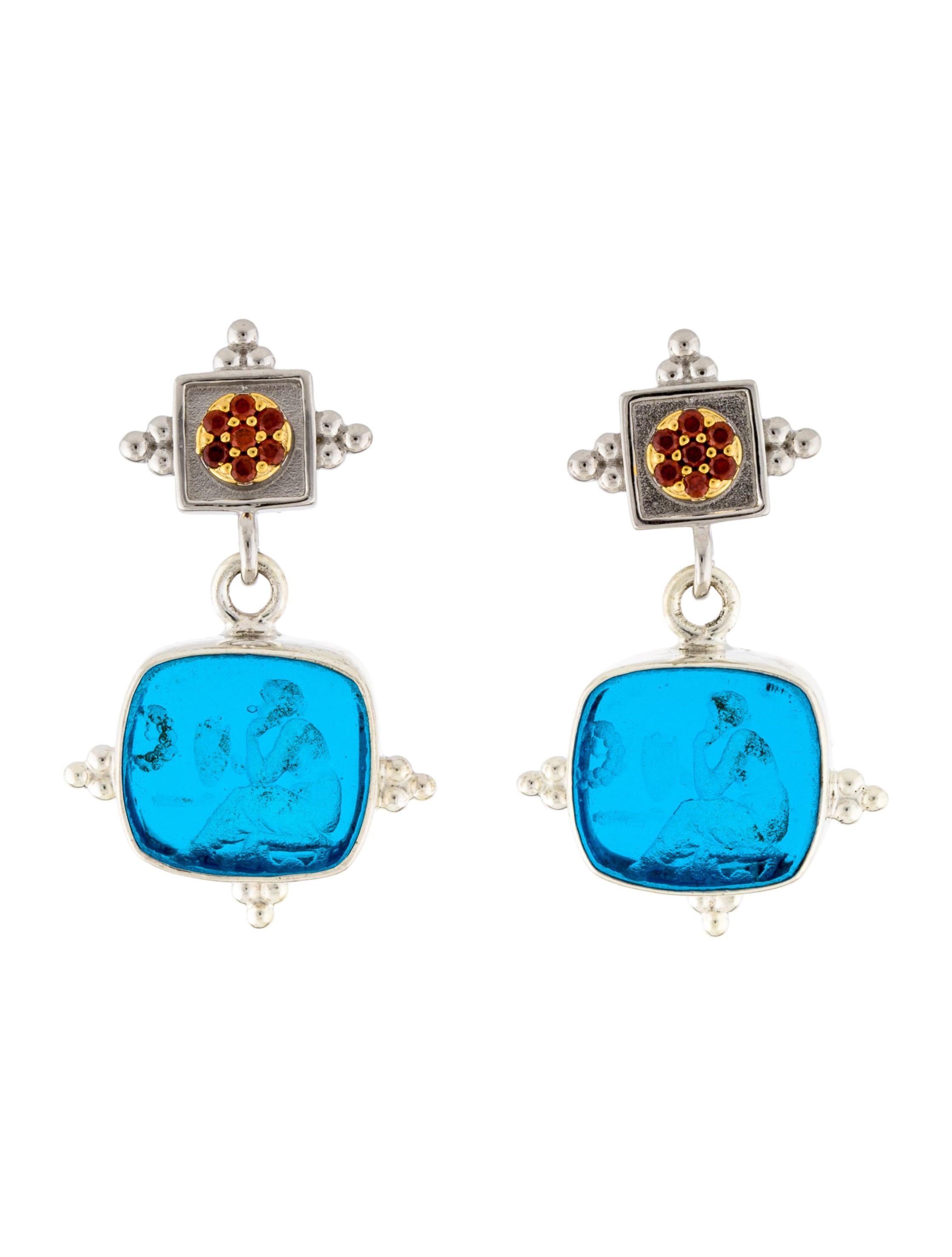 Solid 925 Sterling Silver Wrap Around Gemstone Beads Drop Dangle Earrings