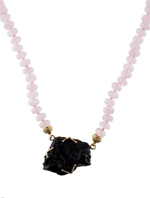 Tagliamonte Rose Quartz & Venetian Libra Pendant N