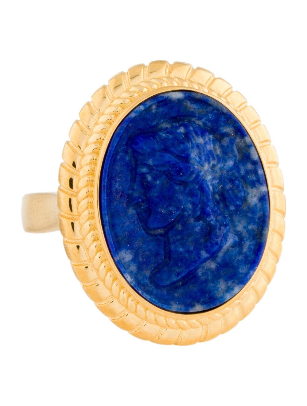 Tagliamonte Lapis Lazuli Cameo Cocktail Ring Gold - image 1