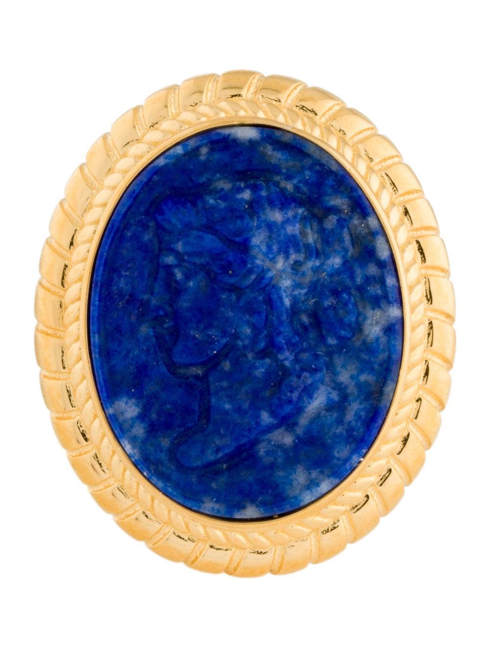 Tagliamonte Lapis Lazuli Cameo Cocktail Ring Gold - image 3