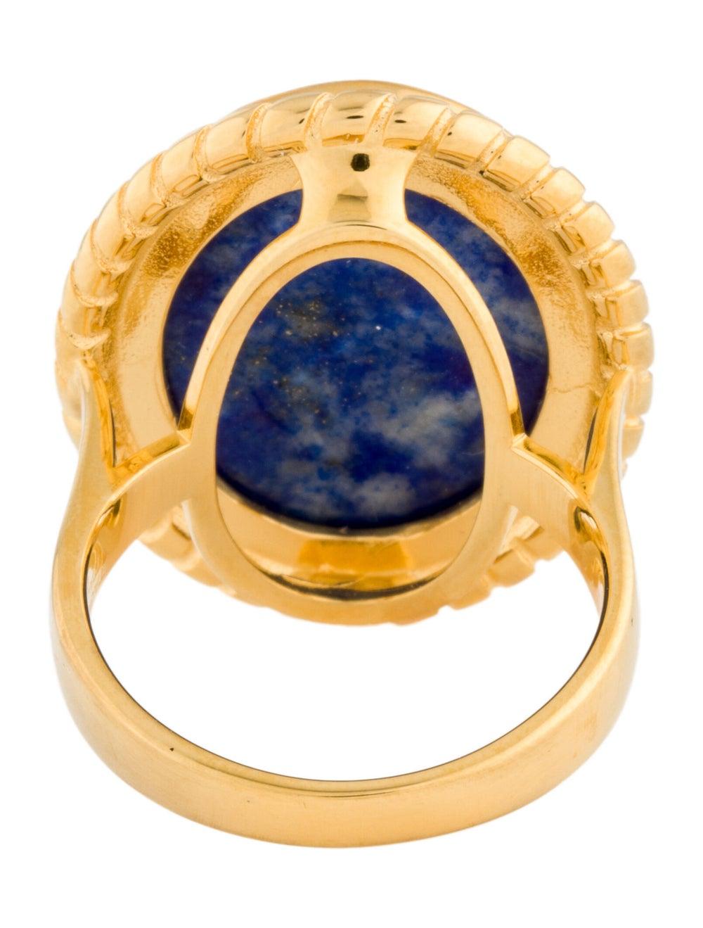 Tagliamonte Lapis Lazuli Cameo Cocktail Ring Gold - image 4