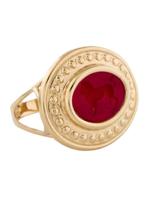 Tagliamonte Venetian Intaglio Cocktail Ring Gold