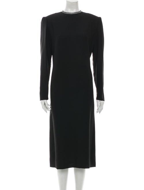 Travilla Vintage Midi Length Dress Black