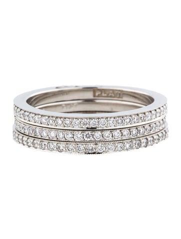 1.01ctw  Diamond Eternity Stacked Rings