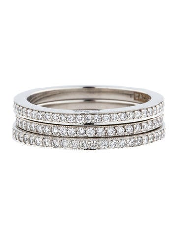 1.01ctw  Diamond Eternity Stacked Rings