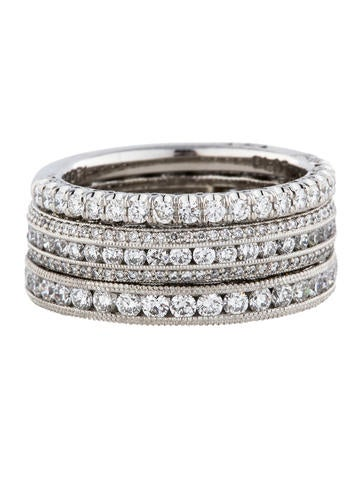 2.54ctw  Crescent Eternity Stacked Rings