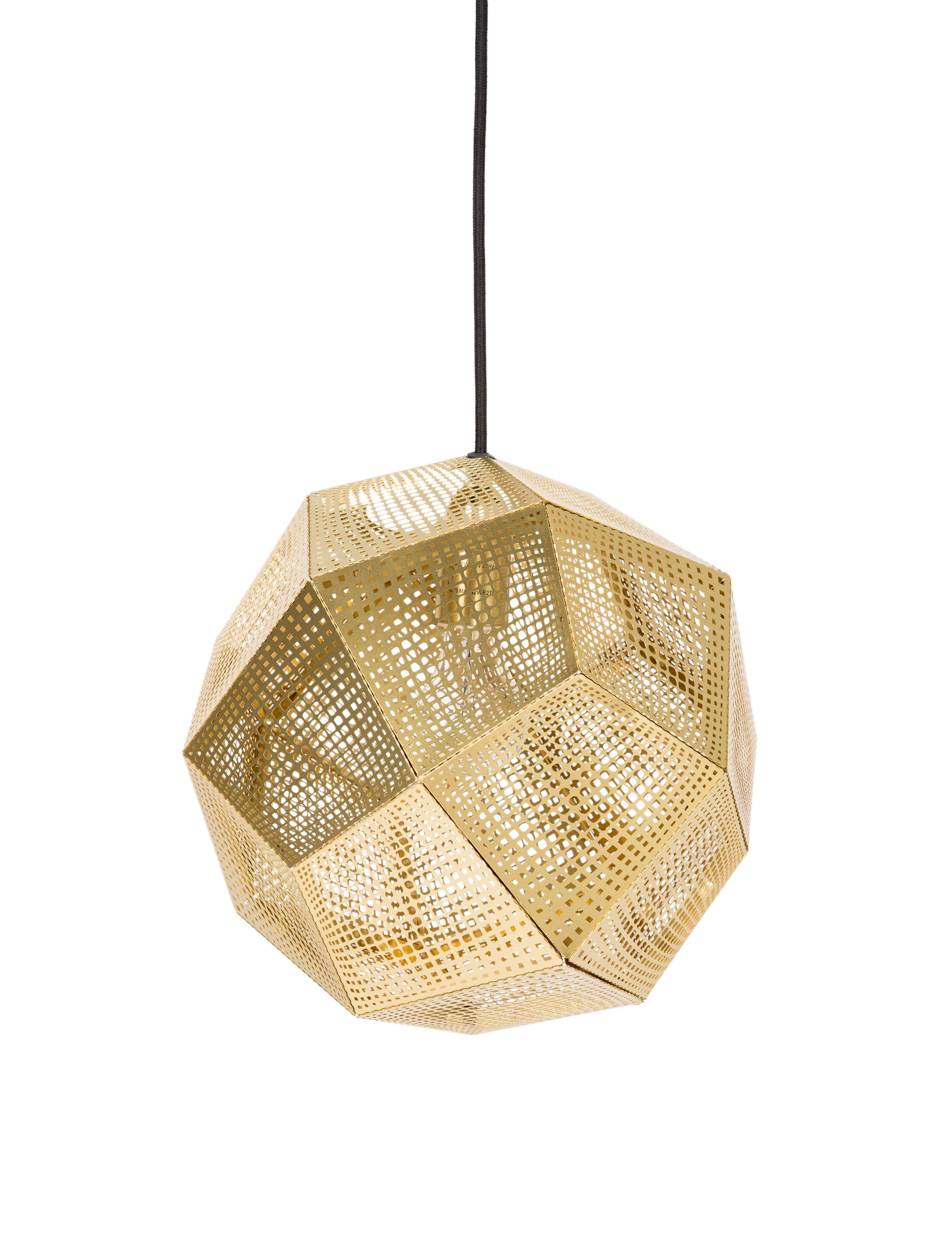 Brass Etch Pendant Light
