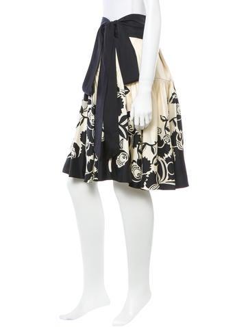 Knee-Length Silk Skirt