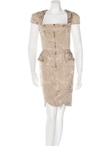 Temperley London Metallic Jacquard Dress