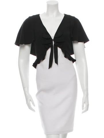 Temperley London Ruffle-Trimmed Shrug None