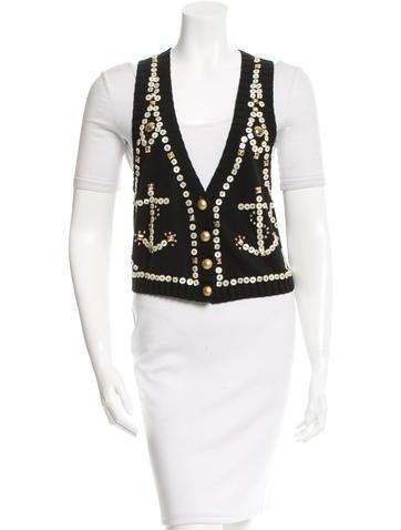 Temperley London Embellished Knit Vest None