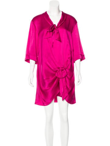 Temperley London Silk Bow-Accented Dress w/ Tags
