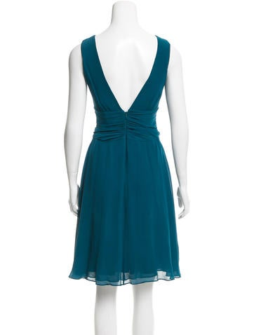 Ruffle-Trimmed Silk Dress