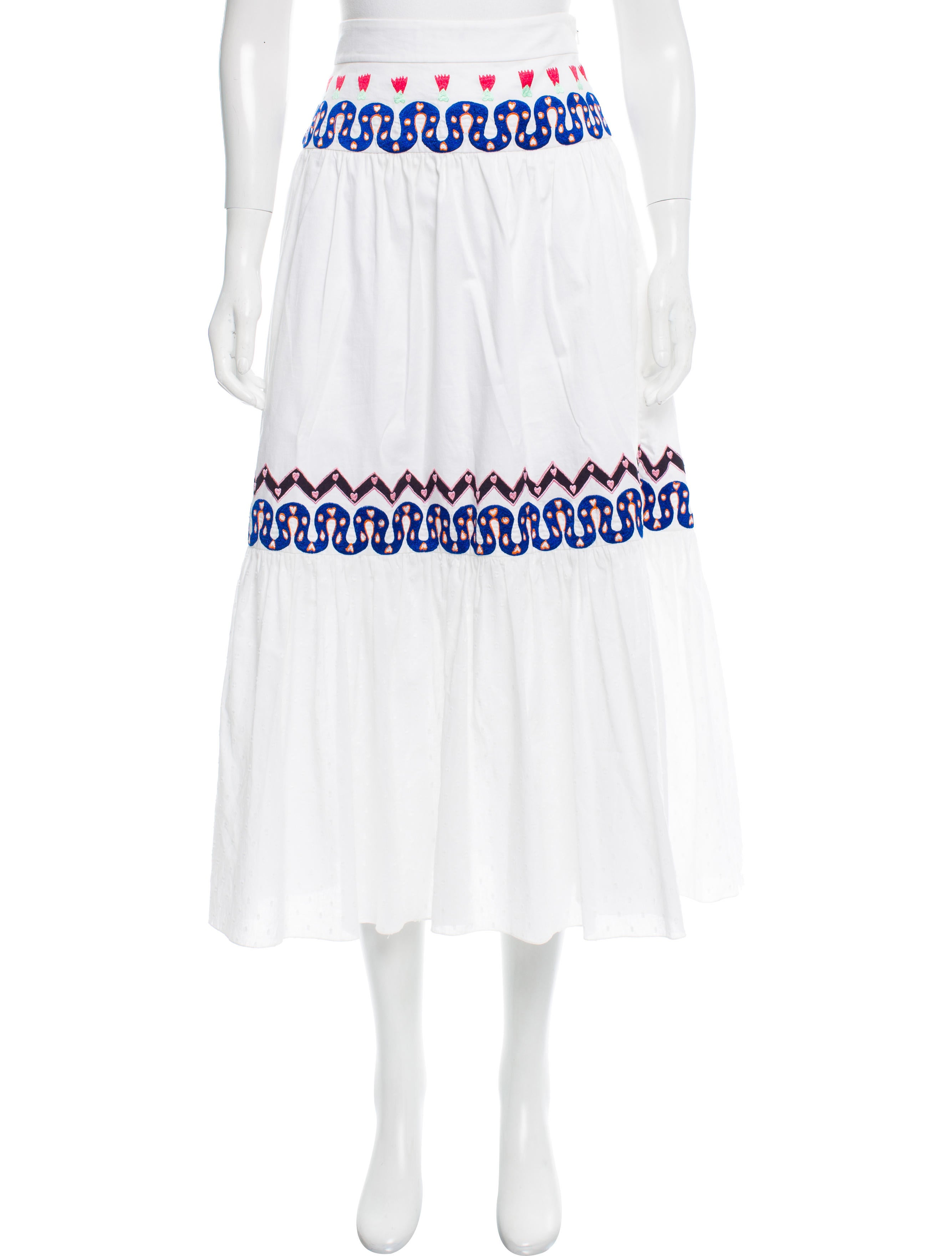 temperley embroidered midi skirt clothing