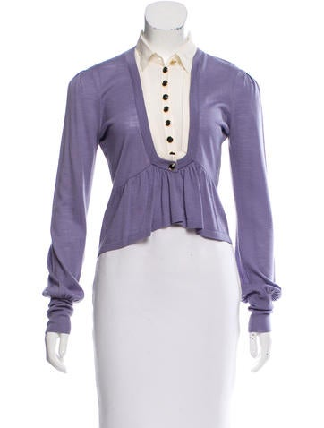 Temperley London Knit Button-Up Top None