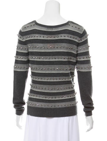 Embellished Wool Sweater w/ Tags