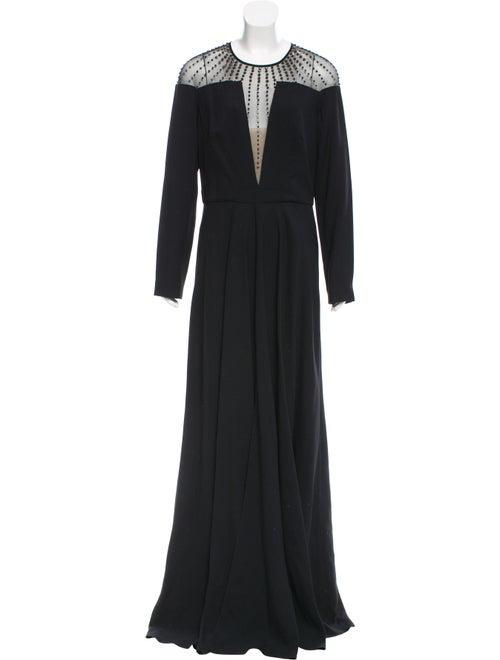 Temperley London Long Sleeve Evening Dress Black