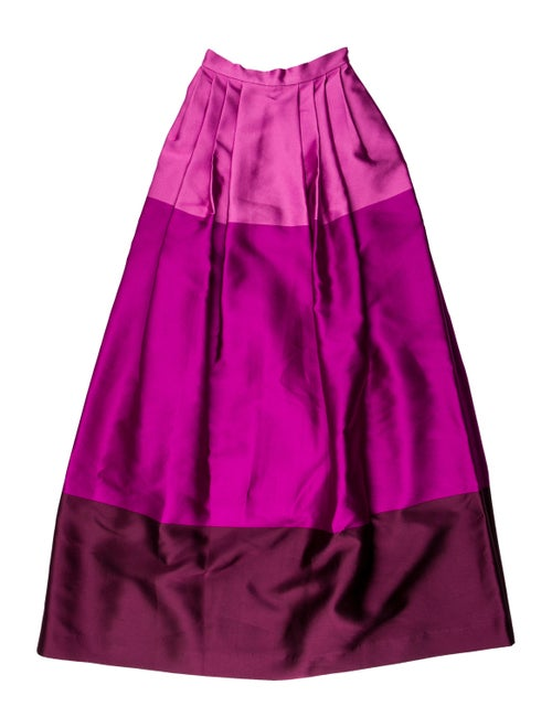 Temperley London A-line Colorblock Maxi Skirt Pink