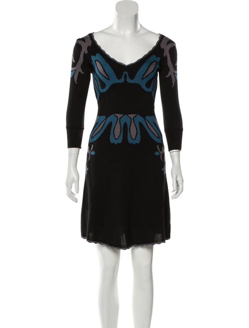 Temperley London Silk Sweater Dress Black