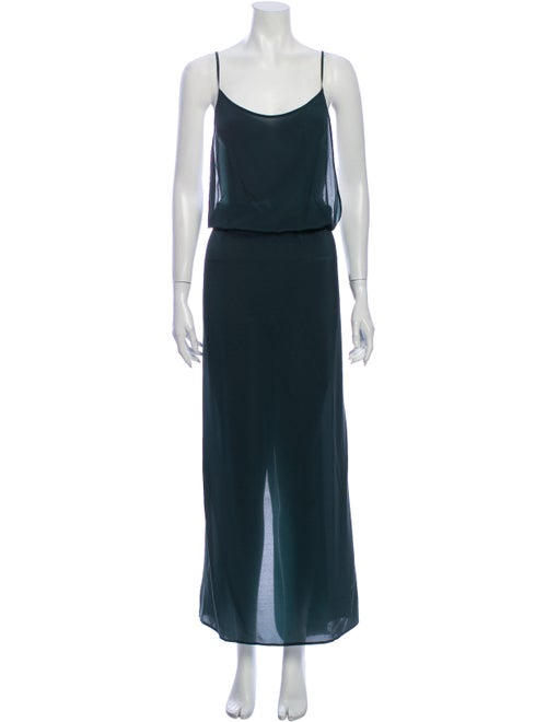 Ter et Bantine Silk Long Dress Green
