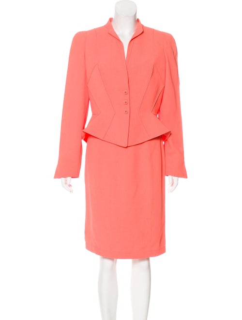 Thierry Mugler Vintage Tailored Skirt Suit Coral