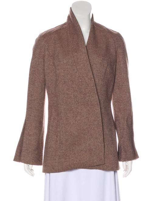 Thierry Mugler Structured Wool Jacket Brown