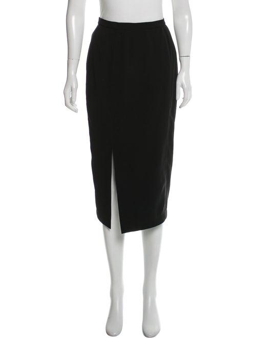 Thierry Mugler Midi Pencil Skirt Black - image 1
