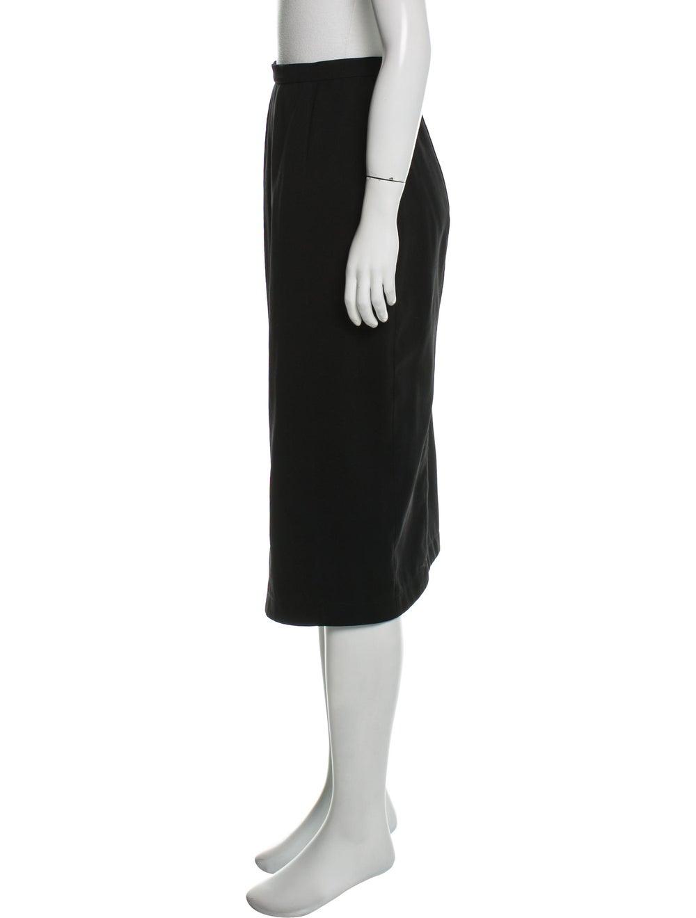 Thierry Mugler Midi Pencil Skirt Black - image 2