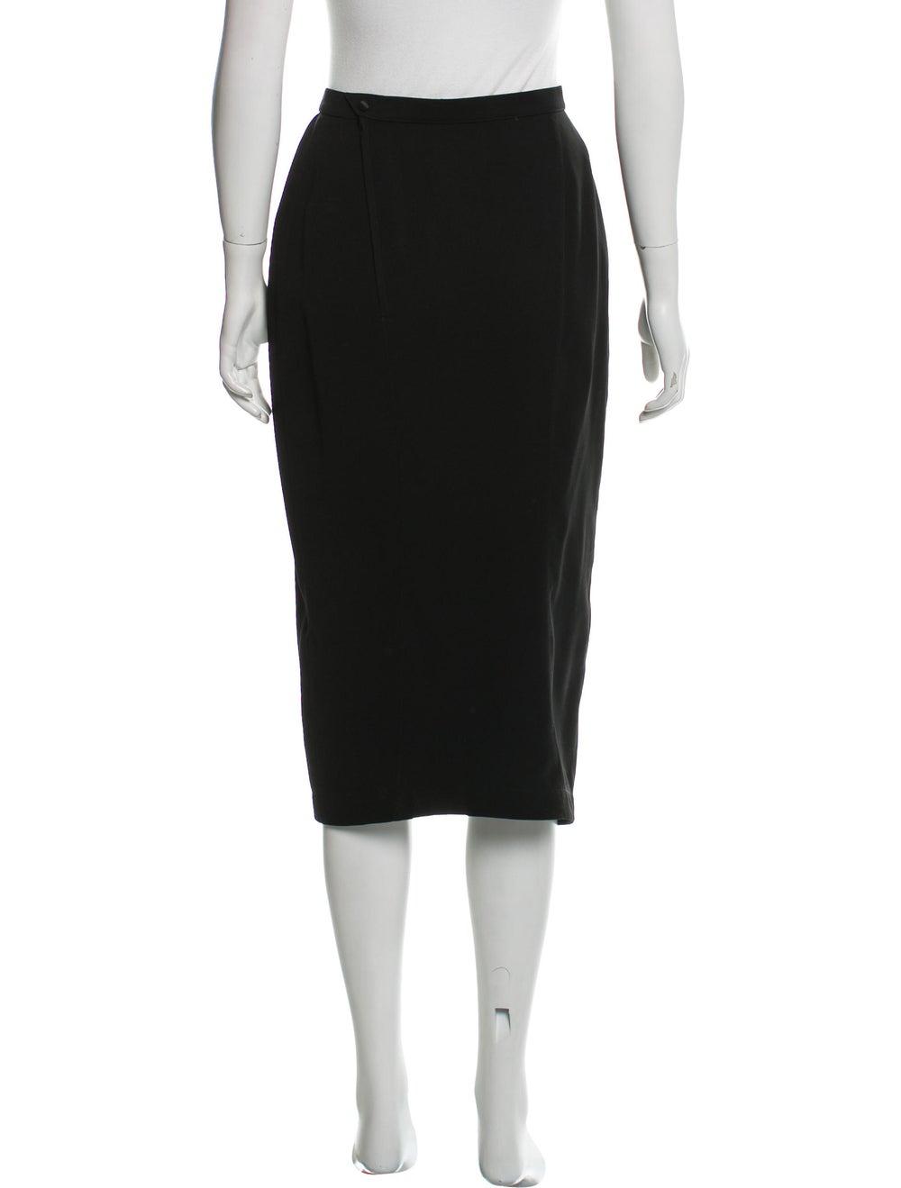 Thierry Mugler Midi Pencil Skirt Black - image 3