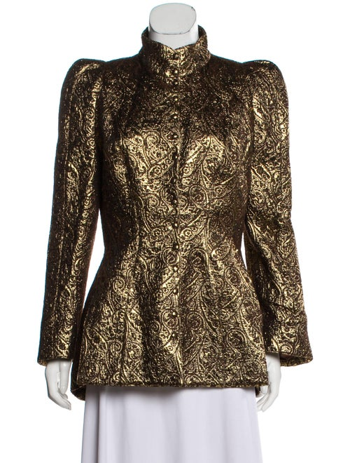 Thierry Mugler Embroidered Evening Jacket Gold