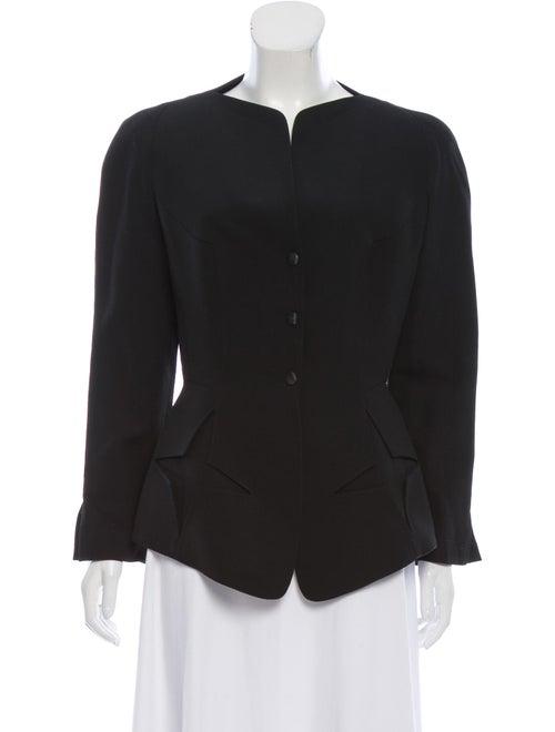 Thierry Mugler Wool Structured Jacket Black