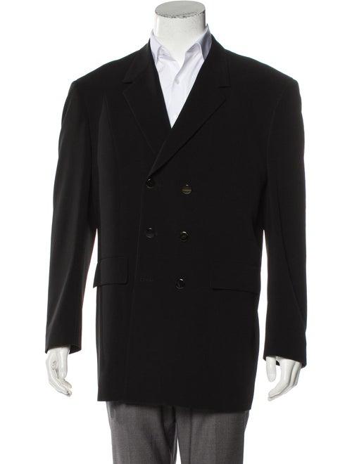 Thierry Mugler Peak-Lapel Blazer Jacket black
