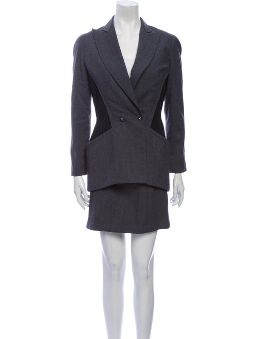 Thierry Mugler Wool Skirt Suit Wool