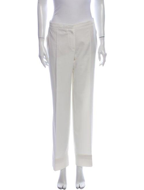 Thierry Mugler Wide Leg Pants White