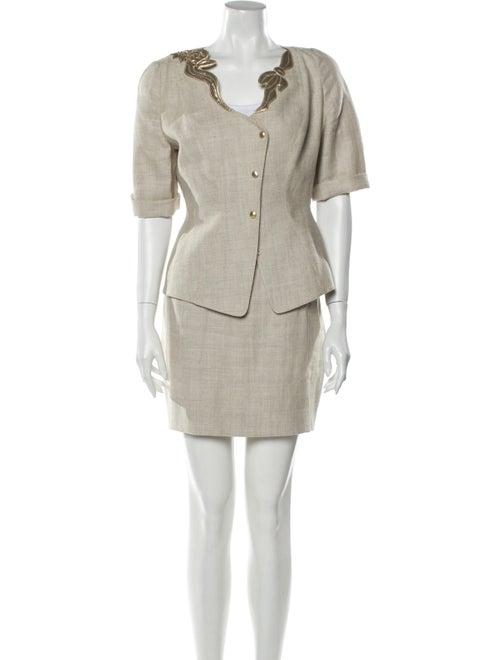 Thierry Mugler Linen Skirt Suit
