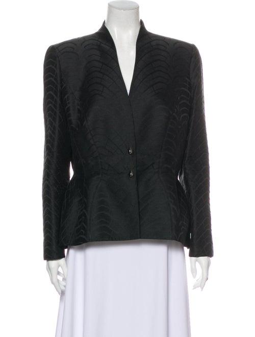 Thierry Mugler Wool Printed Evening Jacket Wool