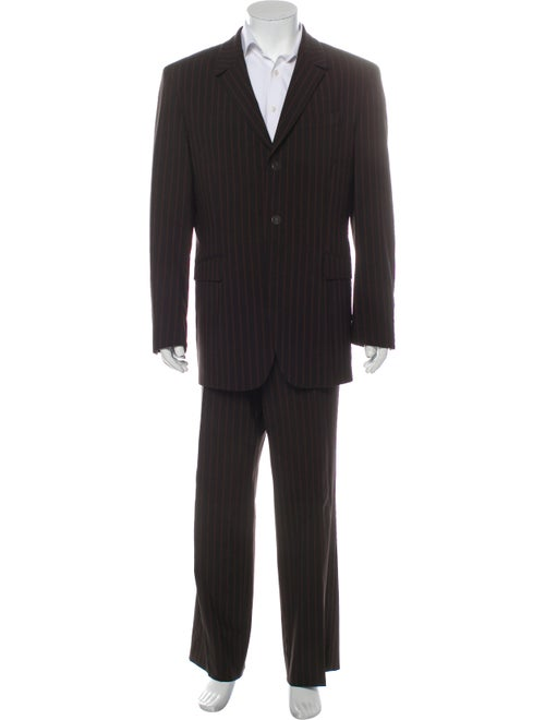 Thierry Mugler Striped Two-Piece Suit Brown