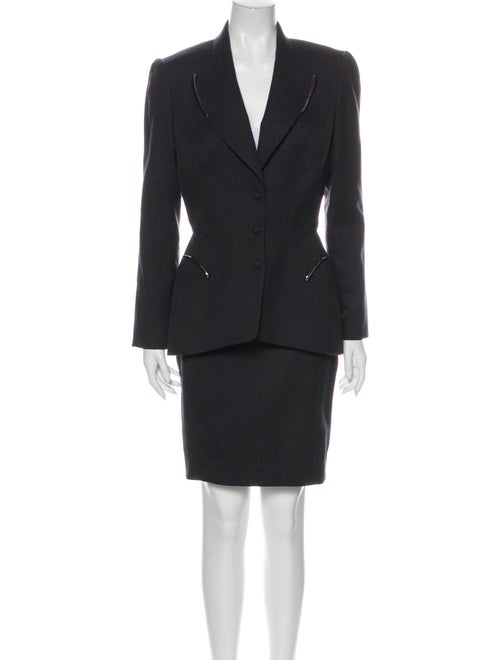 Thierry Mugler Vintage 1980's Skirt Suit Wool