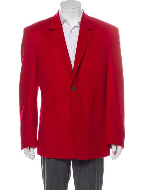 Thierry Mugler Vintage Wool Blazer Red