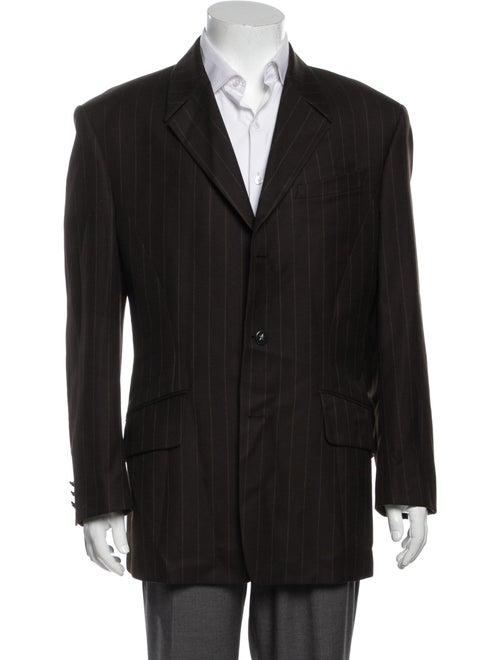 Thierry Mugler Wool Striped Blazer Wool