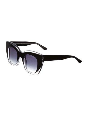 Two-Toned Cat-Eye Sunglasses