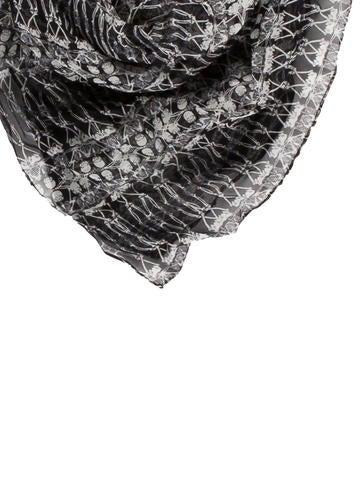 Silk Skeleton Scarf